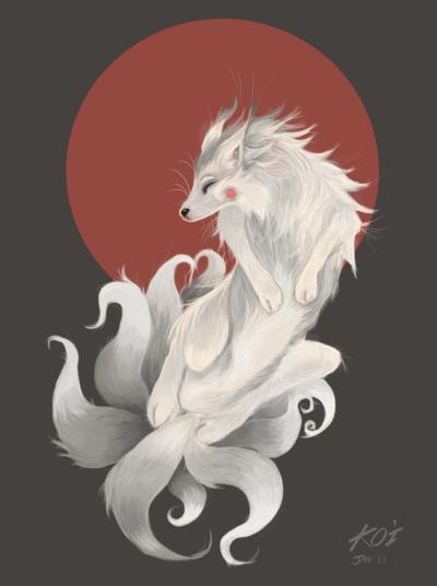 Nine Tailed Fox Kitsune By Infidel Absence Fox Art Beautiful Dark Art Japanese Fox