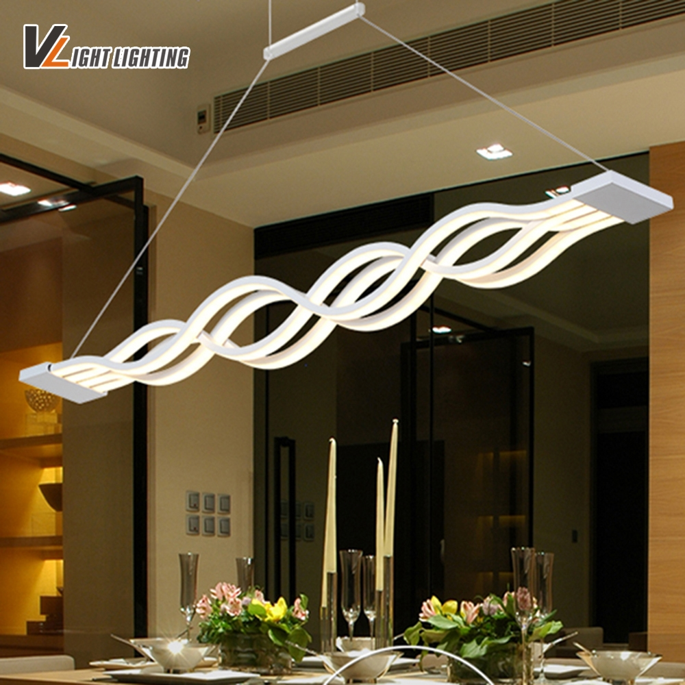77.35$  Watch now - http://aiwgb.worlditems.win/all/product.php?id=32801088350 - Modern LED pendant lights acrylic for dinning room living room bar study room hanging led lights 85-265V lampadario