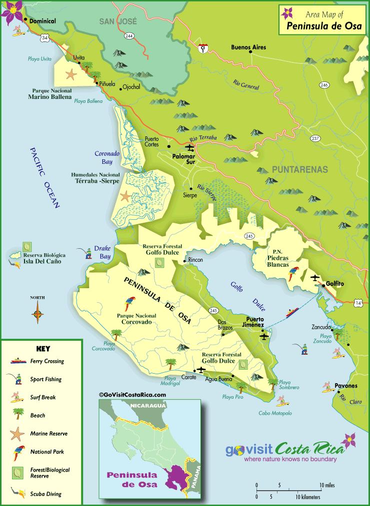 osa peninsula costa rica map Osa Peninsula Drake Bay Map Costa Rica Costa Rica Map Osa osa peninsula costa rica map
