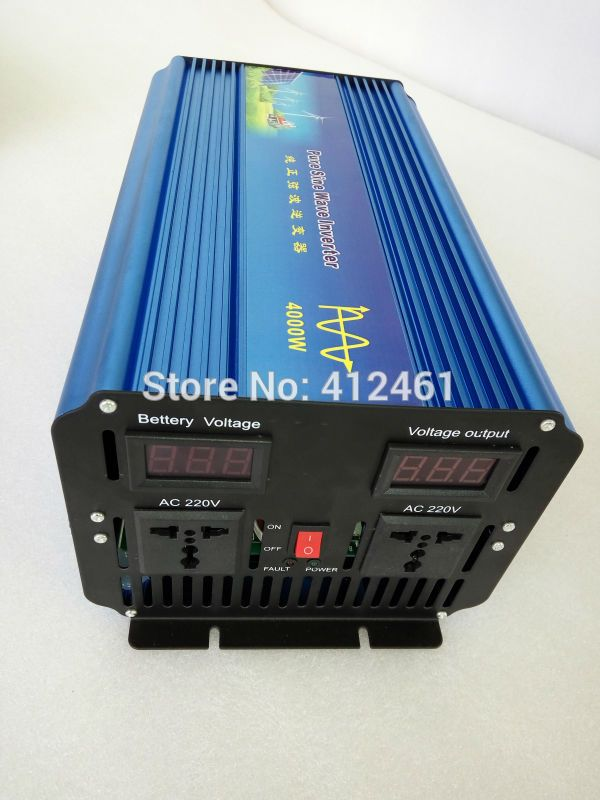 Top Quality 4000w Inverter Dc 12v 24v 48v To Ac 100v 110v 120v 220v 230v 240v Pure Sine Wave Solar Inverter Sine Wave Solar Panel Inverter Solar Inverter