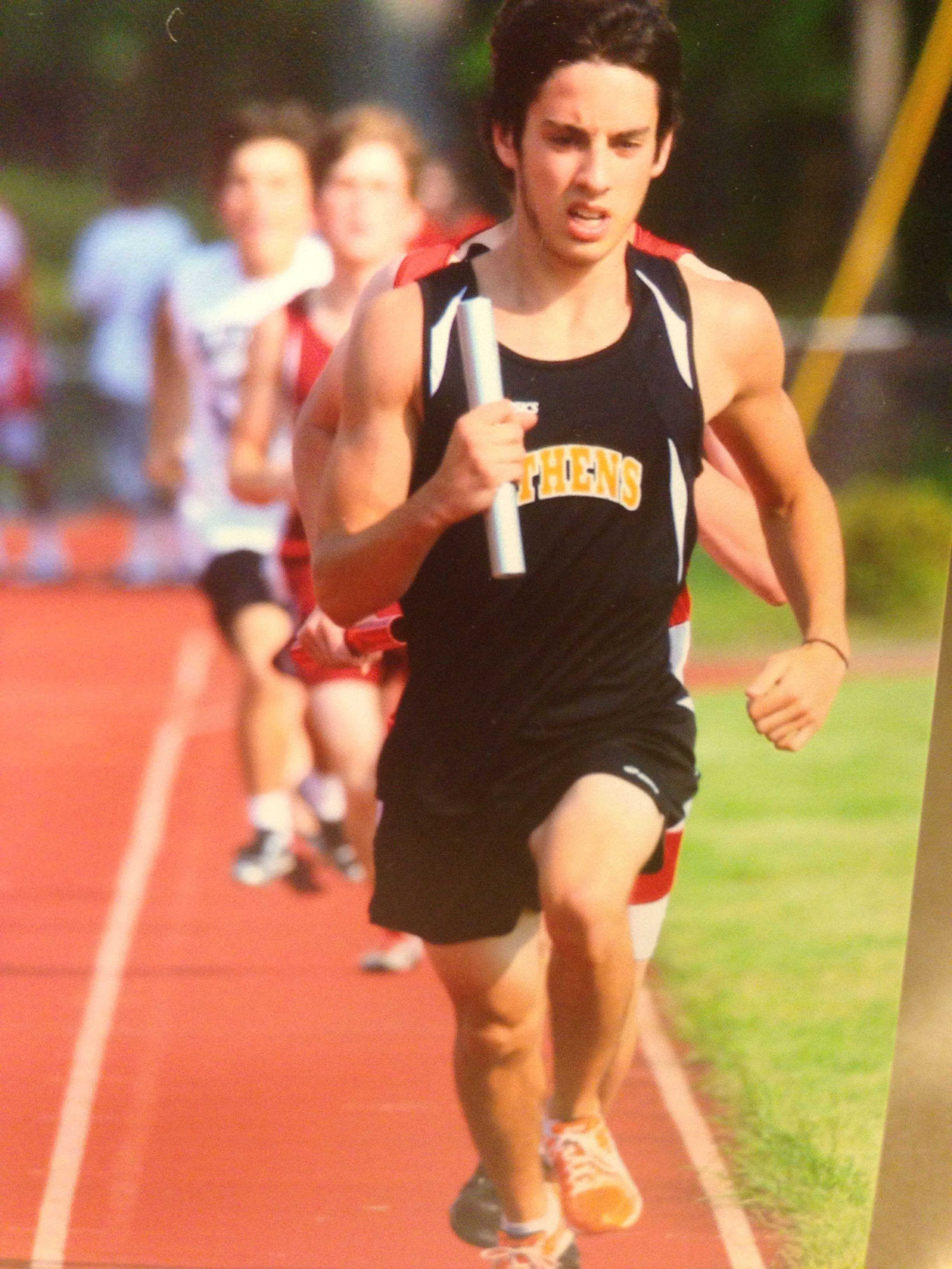 He earned place at State meet by his regular season track meet times. Athens High School 2012