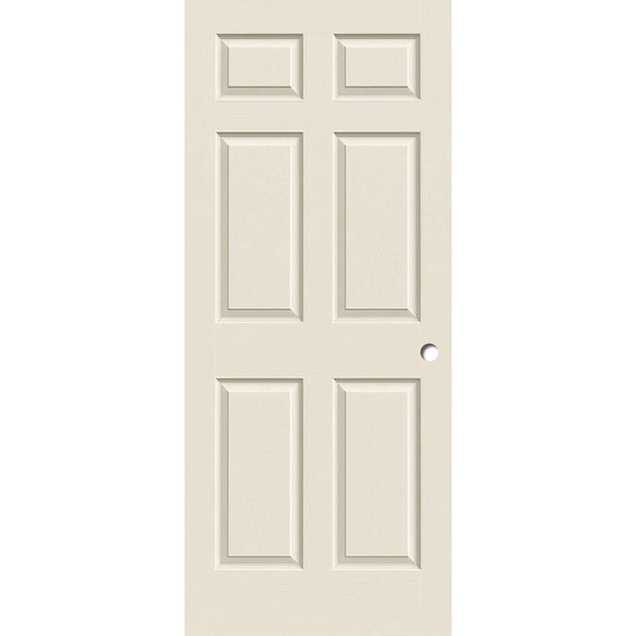 Reliabilt White 6 Panel Hollow Core Molded Composite Slab Door Common 36 In X 80 In Actual 36 In X 80 In Lowes Com Slab Door Reliabilt Black Interior Doors