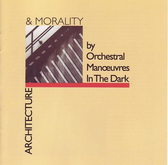 Cd album cover Orchestral Manoeuvres in the Dark - Architecture & Morality Designed by the English graphic designer Peter Saville #petersaville