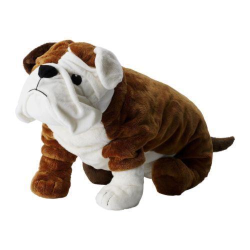 Ikea Bulldog Klumpig Big 21 Bulldog Dog Soft Toy Stuffed Animal
