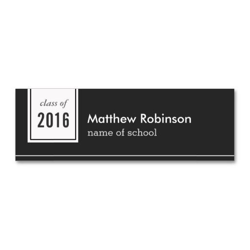 Classic Black White Formal Graduation Name Card Business Template This Great Design Is Available For Customization