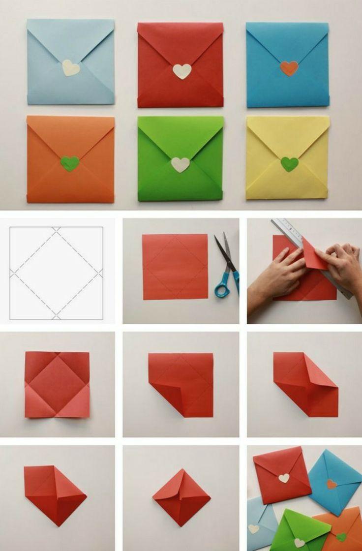 Briefumschlag basteln in verschiedenen Größen & … – ejimood.site #briefumschlagbasteln
