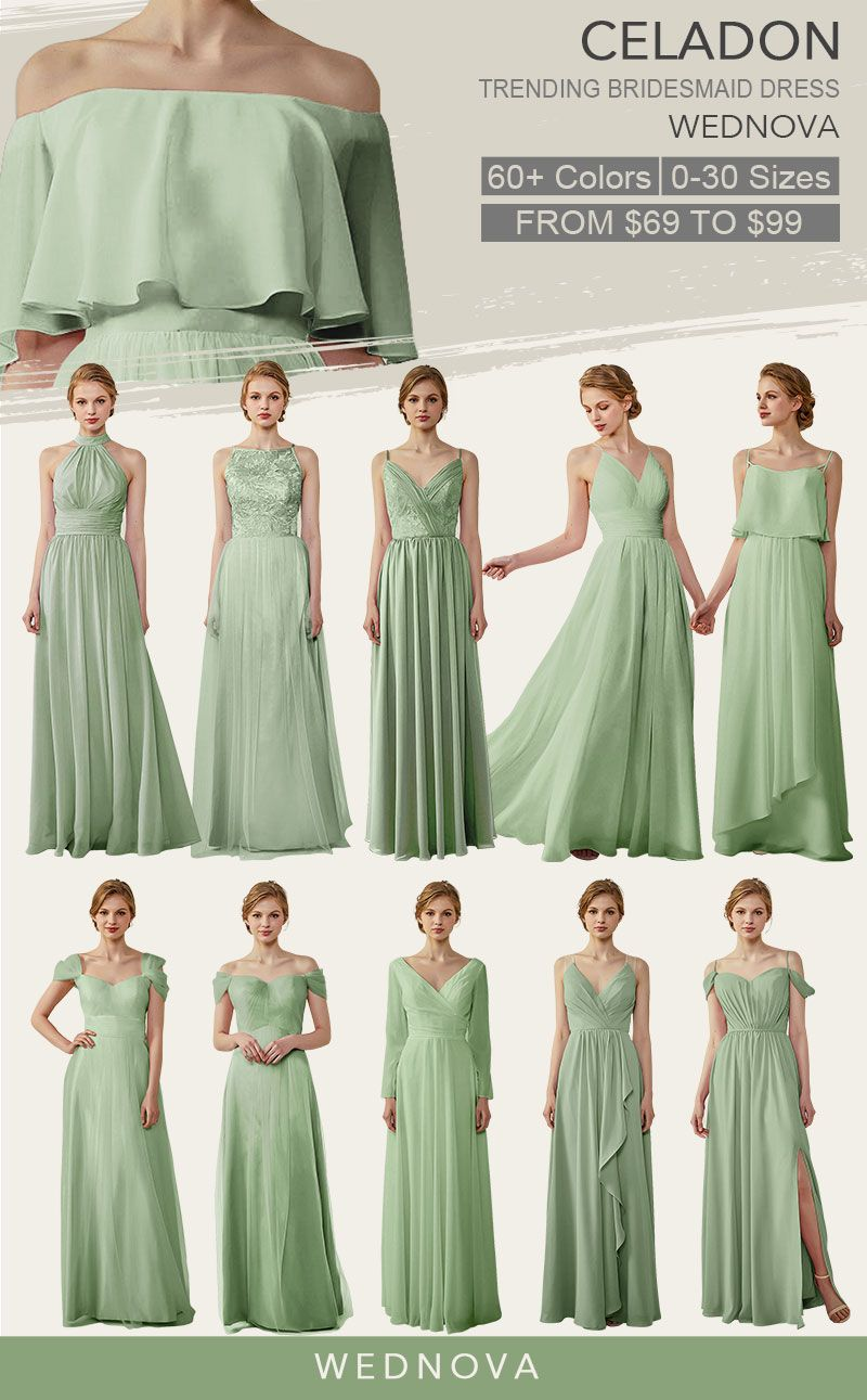 bridesmaid dresses long chiffon made to fit show your style on