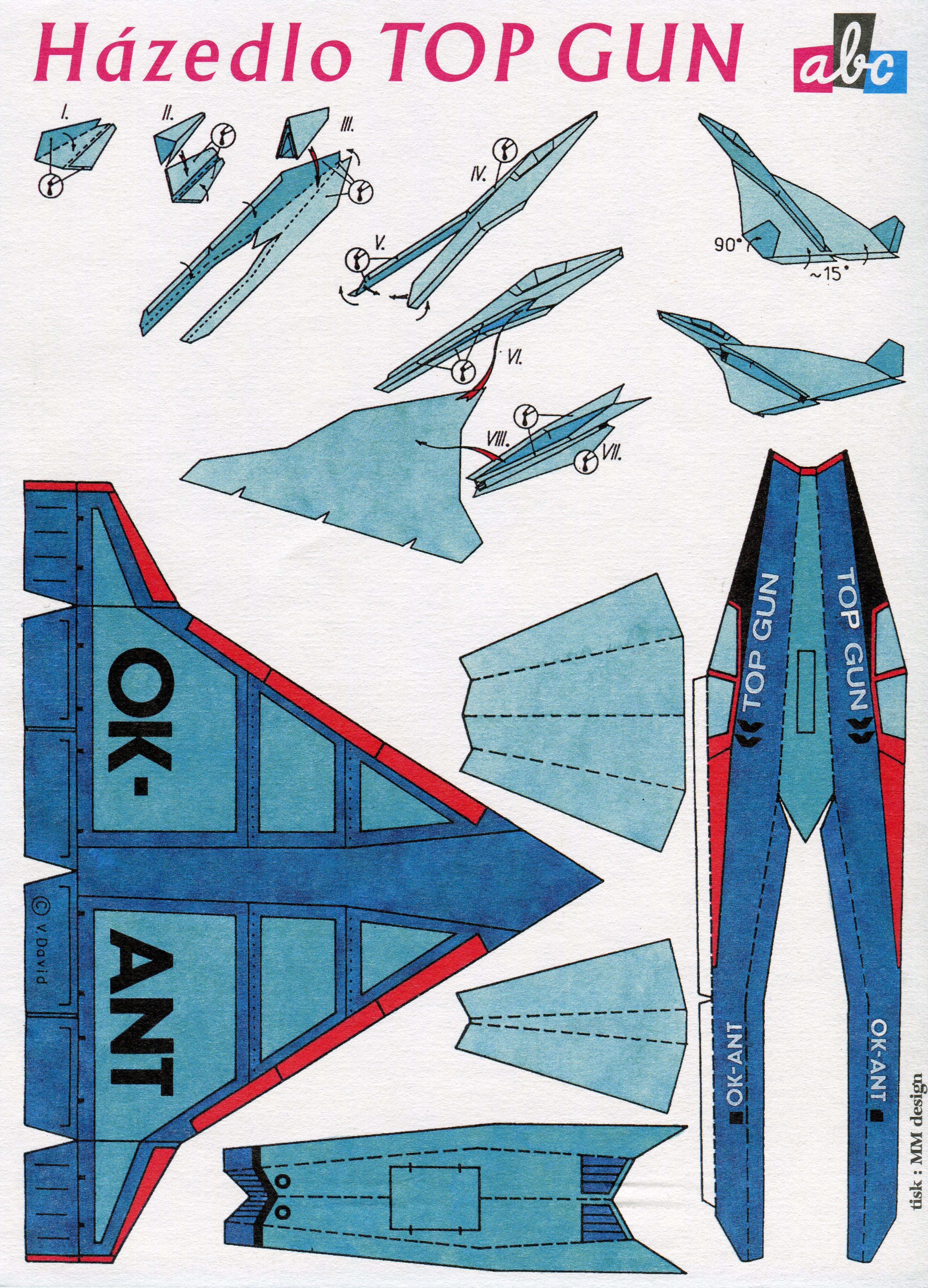 hazello top gun abc magazine papierflieger papierflieger bastelbogen und flugzeug. Black Bedroom Furniture Sets. Home Design Ideas