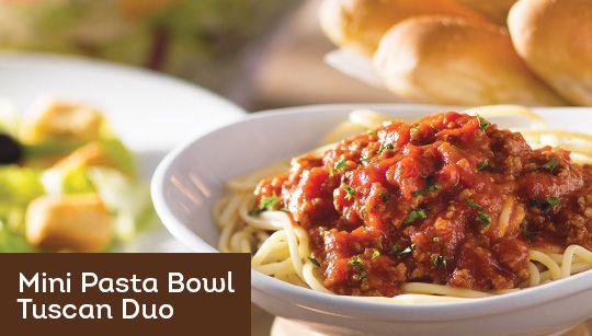 Pizza Olive Garden Menu: Tuscan Duo - Starting At $6.99