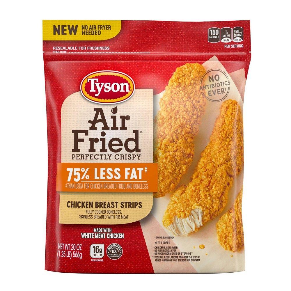 Tyson Air Fried Frozen Chicken Strips 20oz in 2019