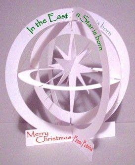 PRINTABLE PopUp Card  Christmas Star LG in by PetrinaCaseStudio, $8.50
