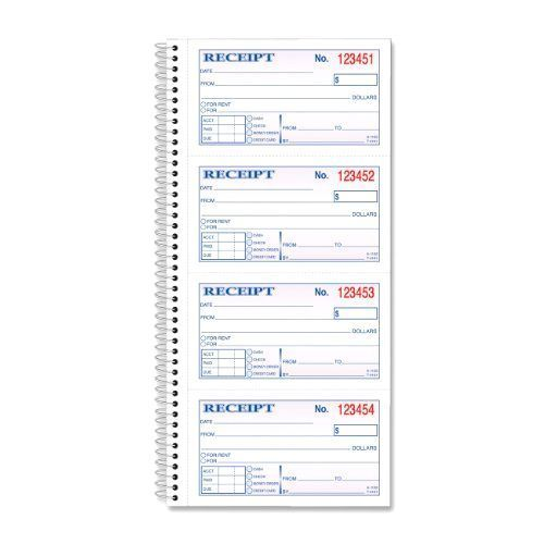 Adams OFFICE BUSINESS Money and Rent Receipt Book 2-Part - free rent receipts