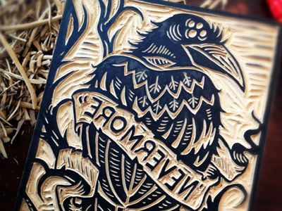 Nevermore-carved-dribbble
