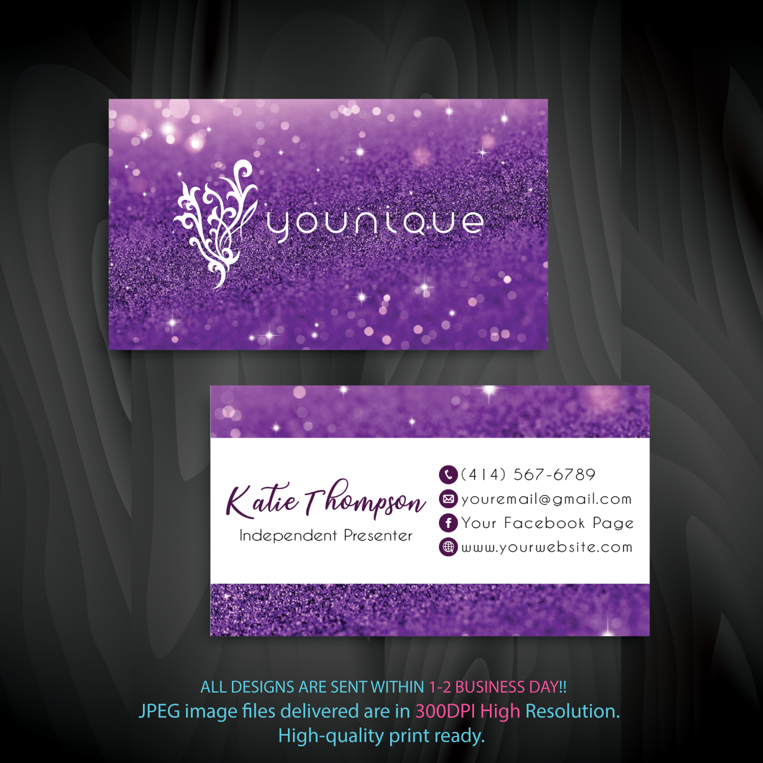 Younique Business Card Personalized Younique Business Card Yq02 Younique Business Cards Younique Business Custom Business Cards