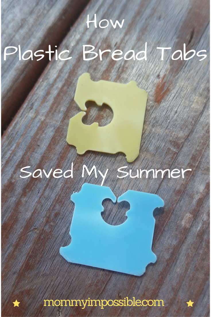 a5adb8a29ef2 Plastic bread tabs are the perfect solution to fix a broken flip flop!