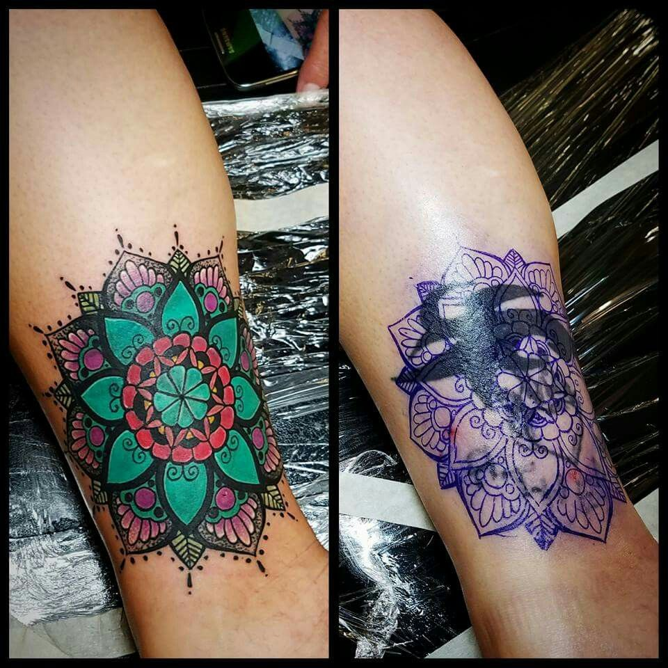 Mandala cover up … Cover up tattoos, Wrist tattoo cover
