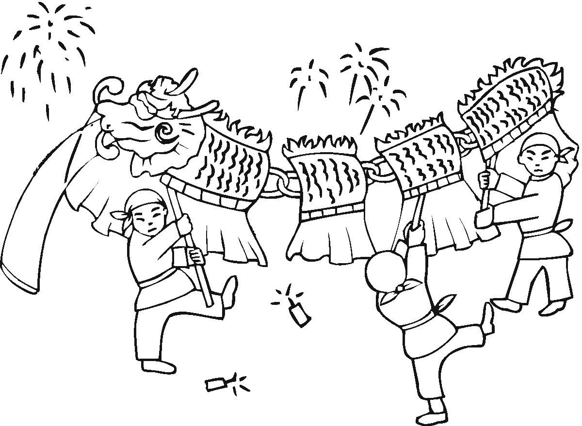 Delicieux Happy Chinese New Year Coloring Page