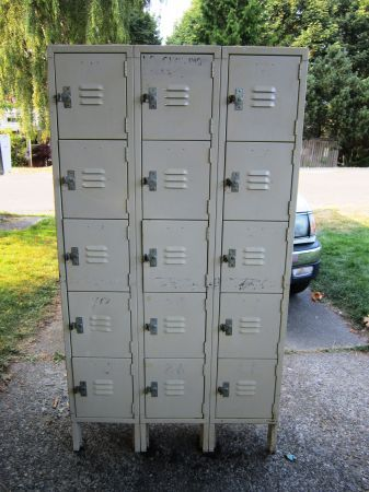 Bank Of 12 Metal Lockers 150 Seattle By Front Door Storage Metal Lockers Door Storage Industrial Table Lamp