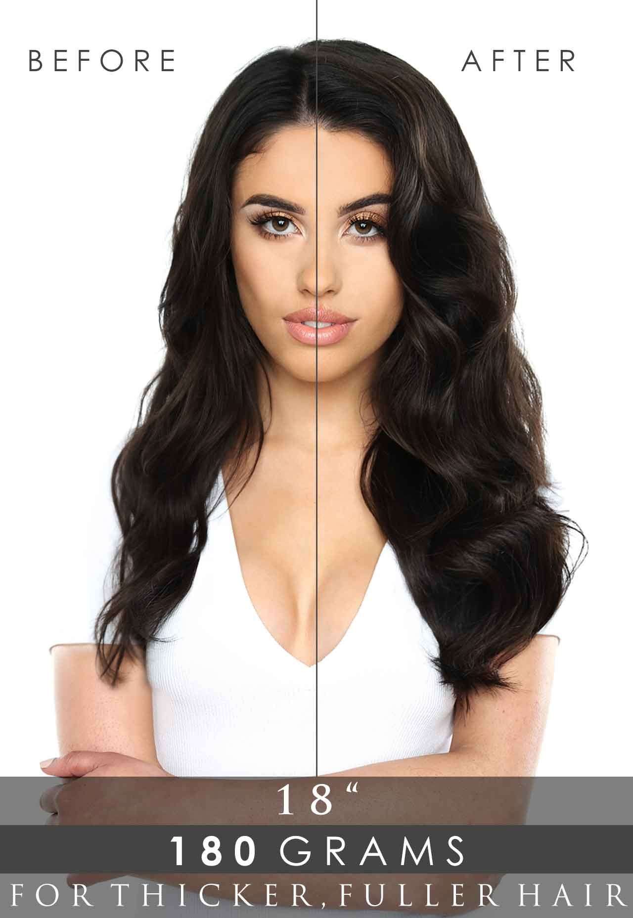 18 Double Hair Set Clip In Extensions Beauty Works Shop Now