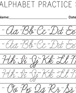 Upper Lowercase Cursive Handwriting Practice Worksheets Free