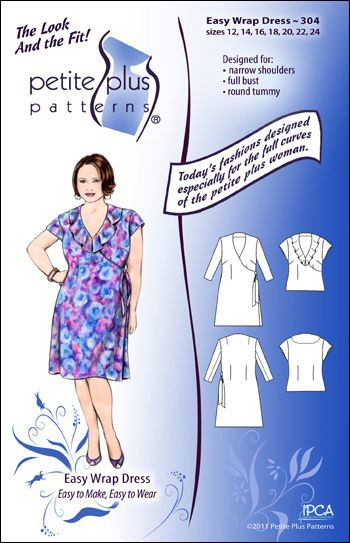 Petite Plus Patterns Easy Wrap Dress & Top   Sewing Patterns ...