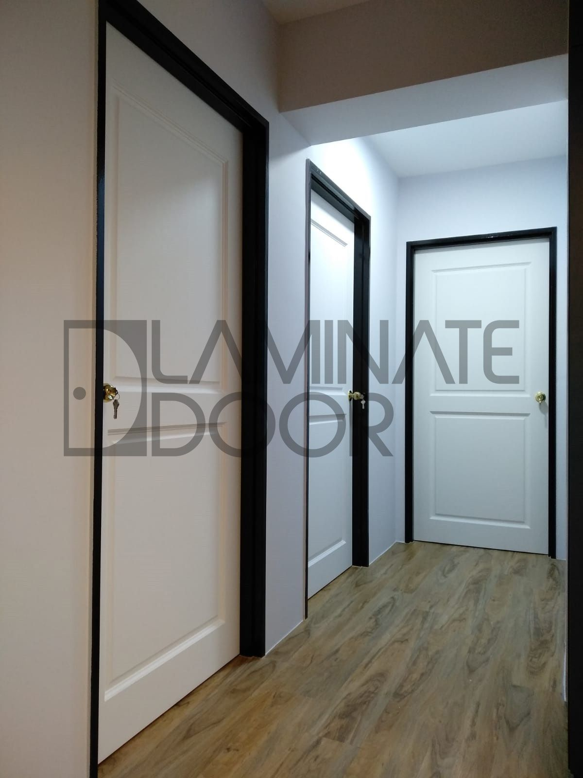 Classic Bedroom Door install for HDB/BTO. Full Solid Wood ...
