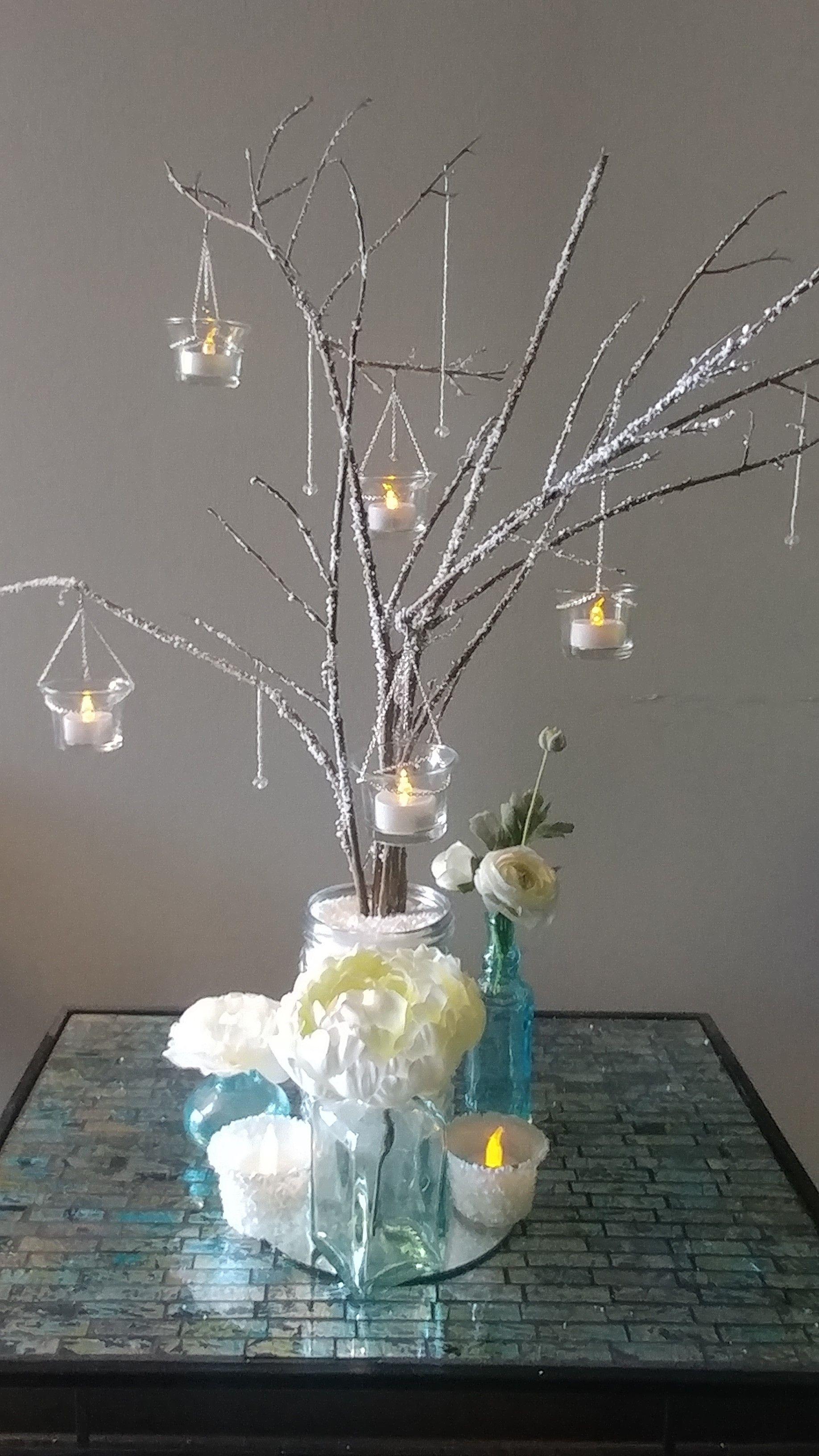 Centerpiece Sample Glass vase, Centerpieces, Winter