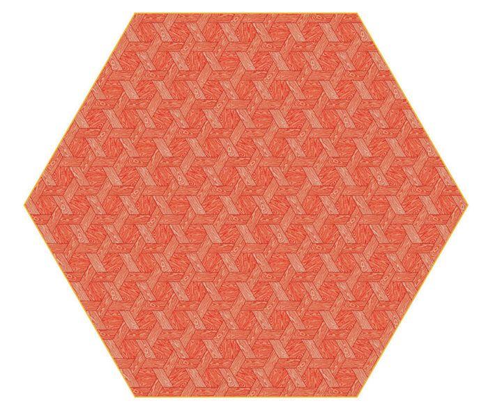 Hexagon Red Carpet by Studio Job for Moooi Carpets