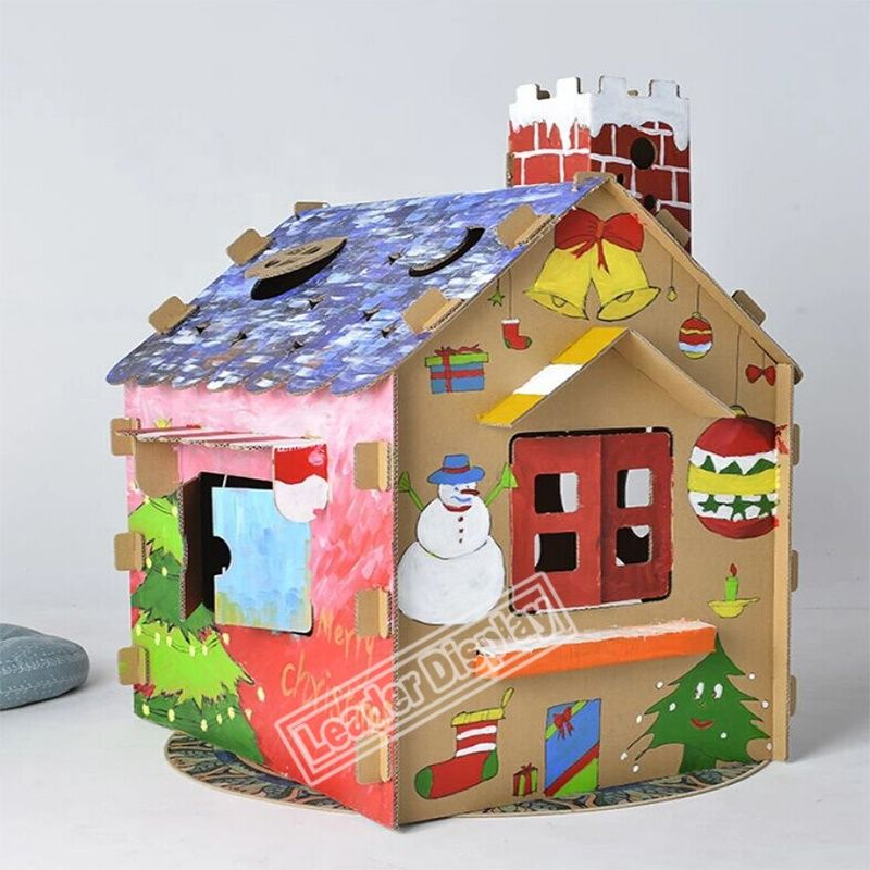 Recycled Custom Coloring Cubby Rocket Castle Train Corrugated Cardboard Playhouse For Kids Cardboard Crafts Cardboard Furniture Cardboard Playhouse