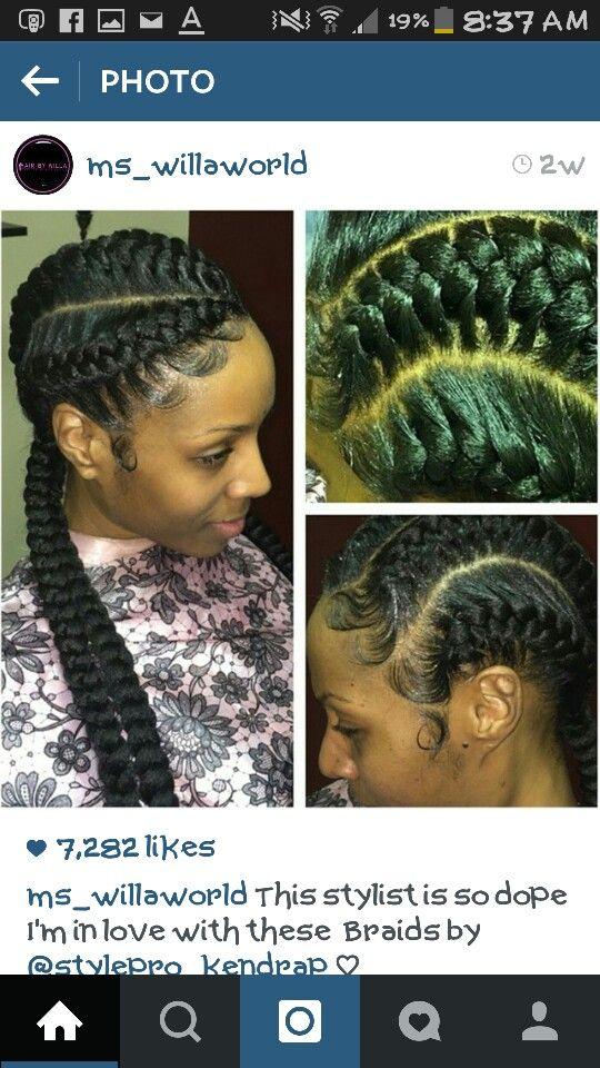 Jumbo braids styles to the scalp