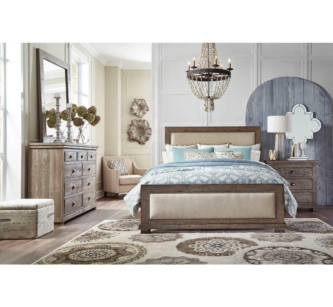 Homestead 5pc Queen Uph Bedroom Group Badcock More Modern