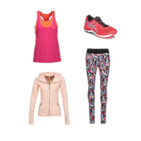 La tenue idéale pour une petite séance de fitenss : paire de baskets Asics, un slim et un débardeur OnlyPlay, et un sweat zippé Bench : vous aimez ? #fashion #outfit