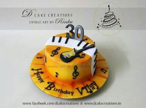30th Birthday Cake for Music lover Vijay by Rinku Personalised