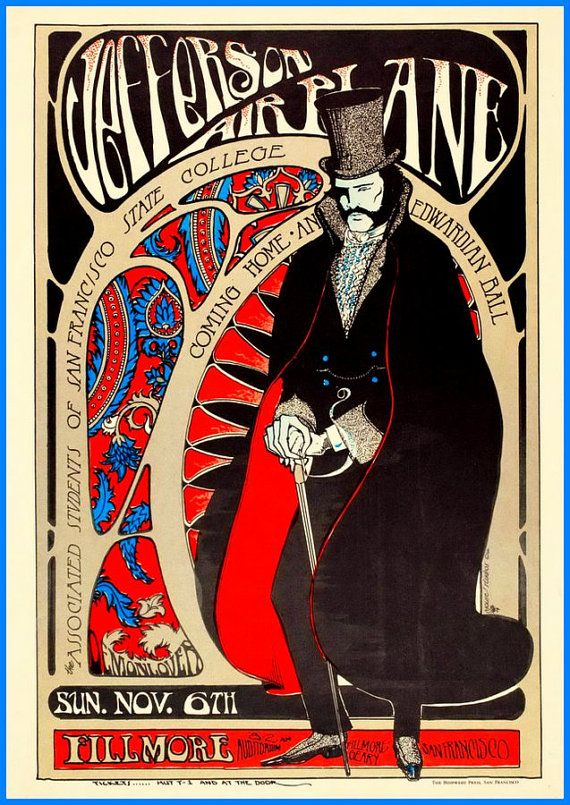 Jefferson Airplane San Francisco Fillmore by BloominLuvly on Etsy