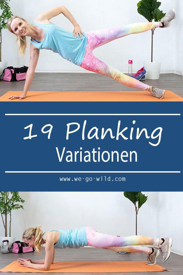 Unterarmstütz - 1 Plank Übung mit 19 Planking Variationen #stayathome