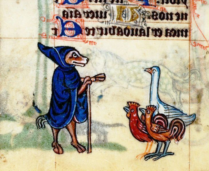 Image result for medieval manuscript talking animals