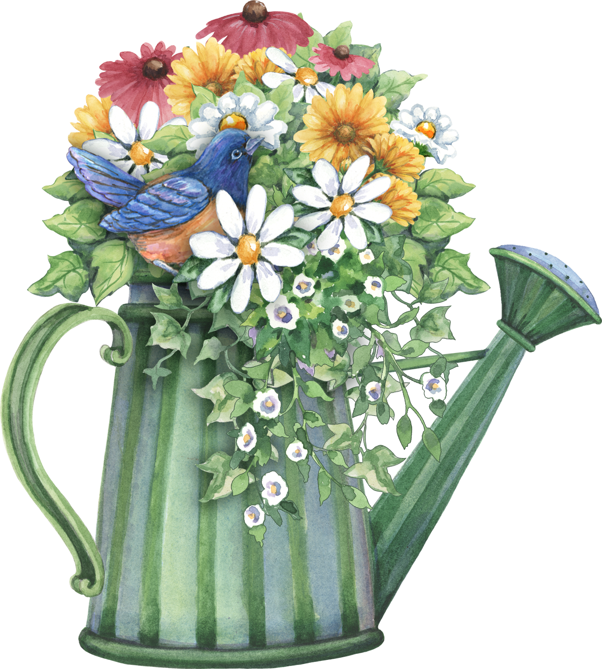 Watering Can Full Of Spring Flowers Decopaj Pinterest