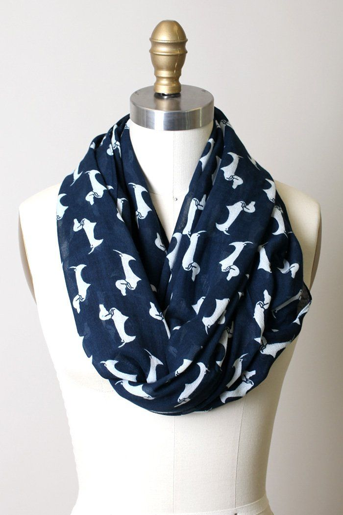 9b69ed6ff9b Women's Bella Dachshund Dog Infinity Scarf Fashion Shawl Wrap ...