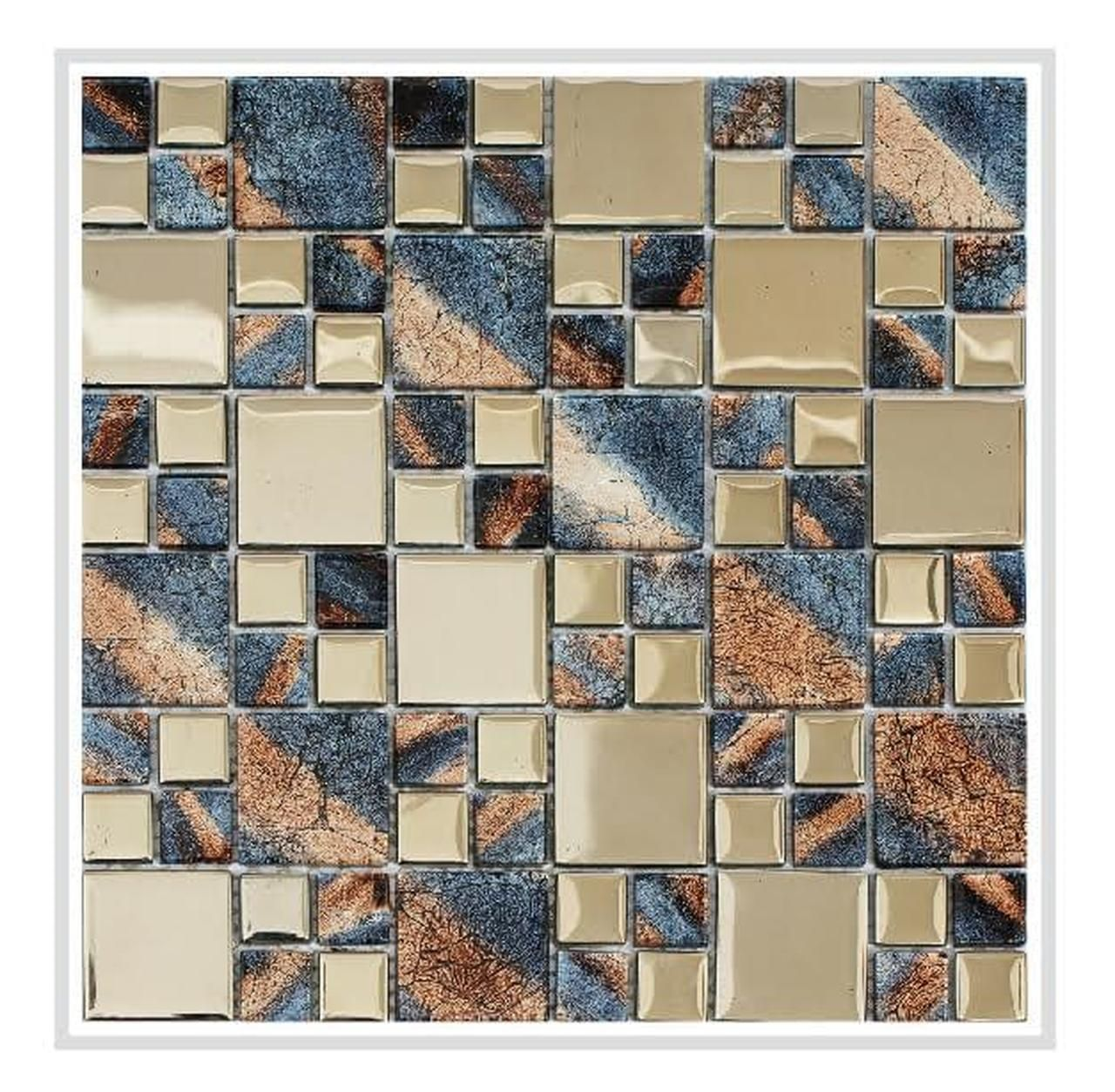 Rousha Purple And Silver 12x12 Glass Mosaic In 2020 Glass Mosaic Backsplash Mosaic Bathroom Tile Copper Mosaic Backsplash
