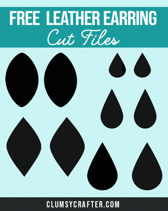 Faux Leather Earring Template : leather, earring, template, Files