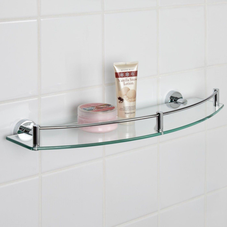 Bristow Curved Tempered Glass Shelf - Bathroom Accessories ...