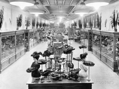Simon Stahl Millinery Store, Ca  1917 Photographic Print