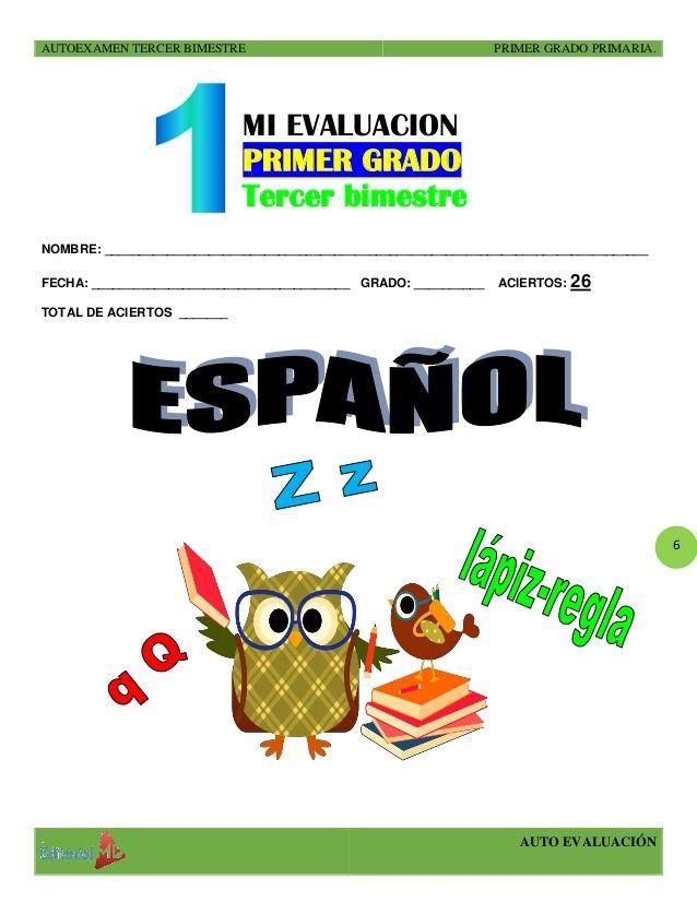 Pin On Examen Preescolar