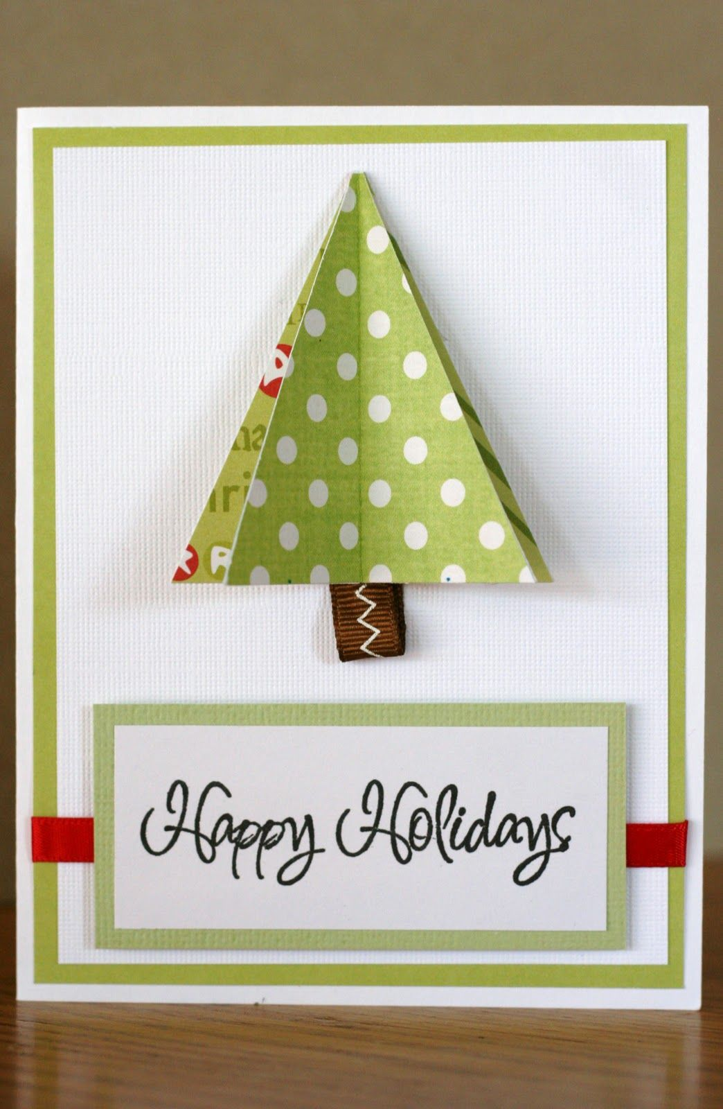 tri-fold Christmas tree   Christmas   Pinterest   Christmas Cards ...