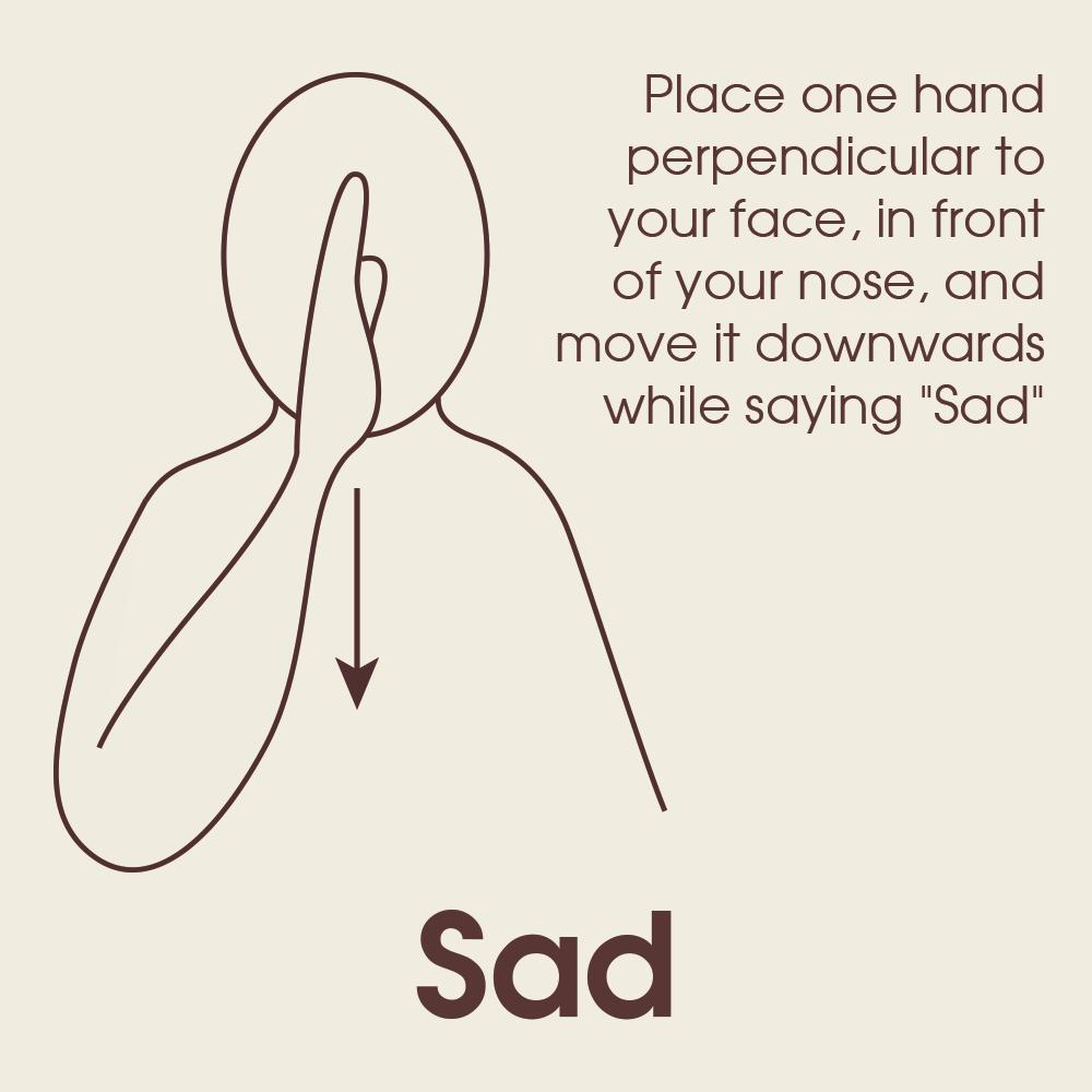 Photo of Makaton Sign for Sad