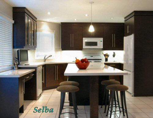 incredible white kitchen cabinets black appliances | Need opinions! I love a black cabinet/orangish walls ...