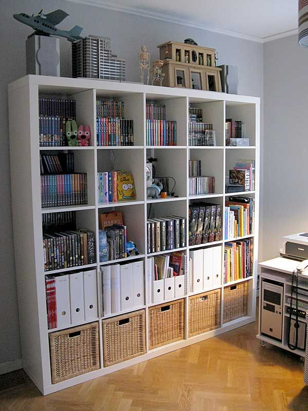 This Is The Ikea Bookcase (room Divider) I Have In Both White And In
