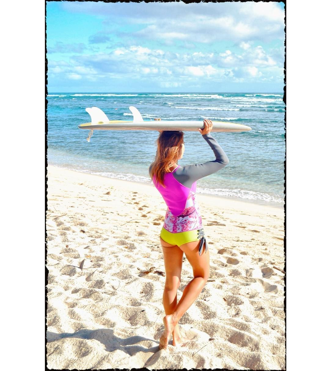 Our new Blossom suit stunning on @rdzugan  || #sirensong #brightandbeautiful #surfstyle