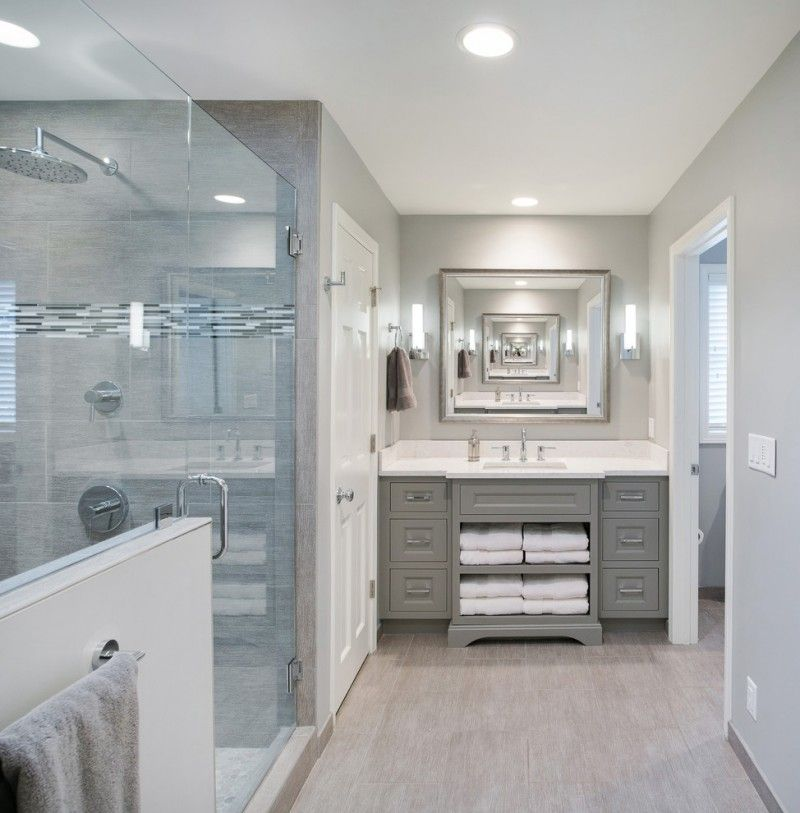 remodeling a small bathroom modern bathroom with grey platinum painted vanity in kansas city x pertaining