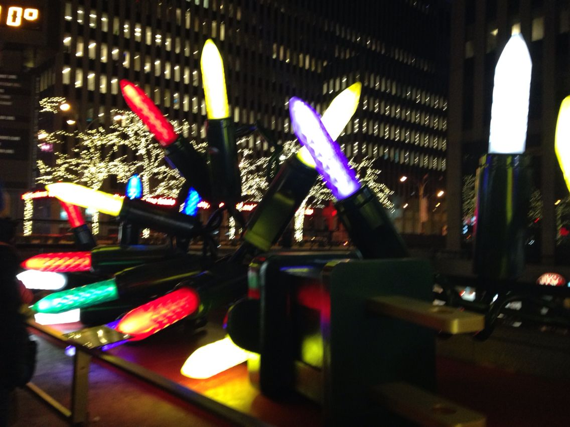 Colorful Lightings - sculpture at 5th Ave NYC 12.31.14 photo by @karine_kolibri